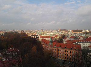 Blick über Krakau vom Wawel aus.